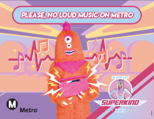 A New Series of Super Kind Videos released as part of Metro Manners